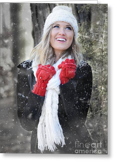 White Mittens Greeting Cards - Red Mittens Greeting Card by Jt PhotoDesign