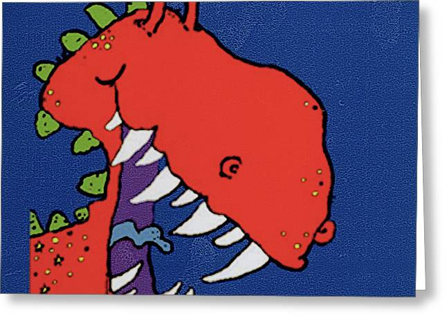 Red Monster Greeting Card by Maylee Christie