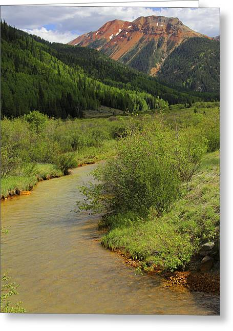 Dirt Digital Art Greeting Cards - Red Mountain Creek - Colorado  Greeting Card by Mike McGlothlen