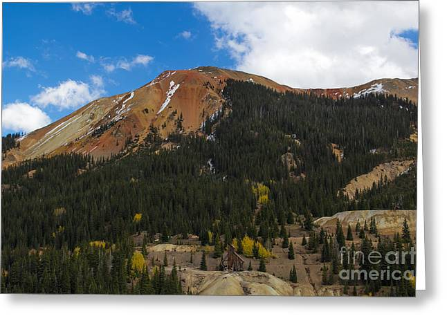 Shack Greeting Cards - Red Mountain Gold Mine Greeting Card by Jim McCain