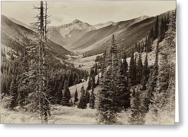 Event Pyrography Greeting Cards - Red Mountain Pass Greeting Card by R Steven Diaz