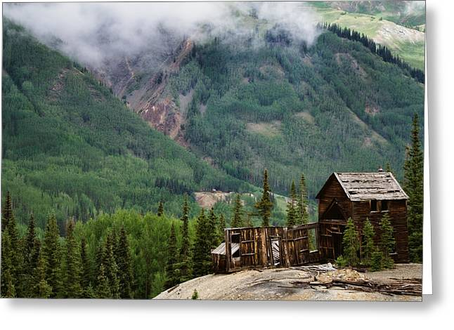 Red Mountain Remnants Greeting Card by Lana Trussell