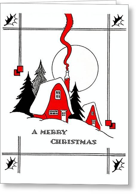 Christmas Greeting Photographs Greeting Cards - Red Greeting Card by Munir Alawi