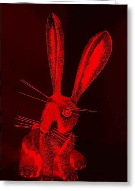 Bugs Bunny Greeting Cards - Red New Mexico Rabbit Greeting Card by Rob Hans