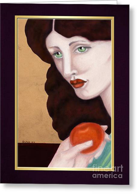 Rosyhall Greeting Cards - Red No 2 TEMPTATION Greeting Card by Rosy Hall