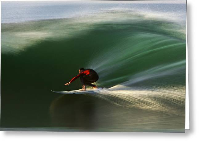 Rincon Greeting Cards - Red on Green  MG_3785 Greeting Card by David Orias