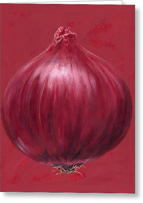 Onion Greeting Cards - Red Onion Greeting Card by Brian James