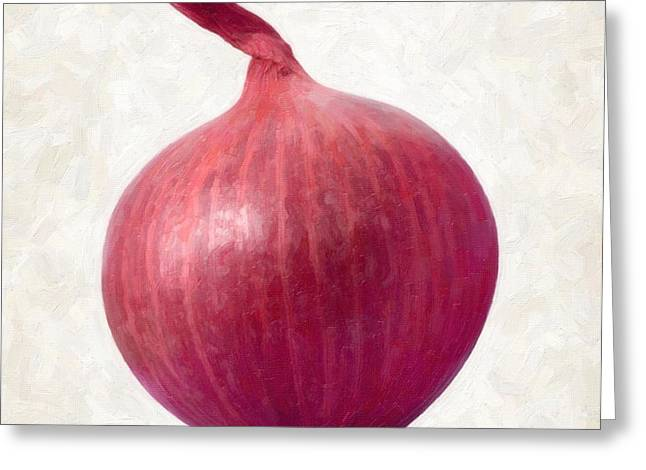 Red Onion  Greeting Card by Danny Smythe