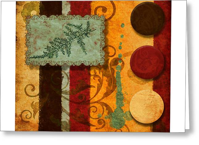 Staging Greeting Cards - Red Orange Brown 2 Greeting Card by Craig Tinder