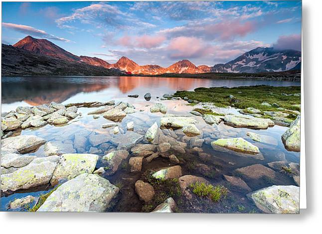 Bulgaria Greeting Cards - Red Peaks Greeting Card by Evgeni Dinev