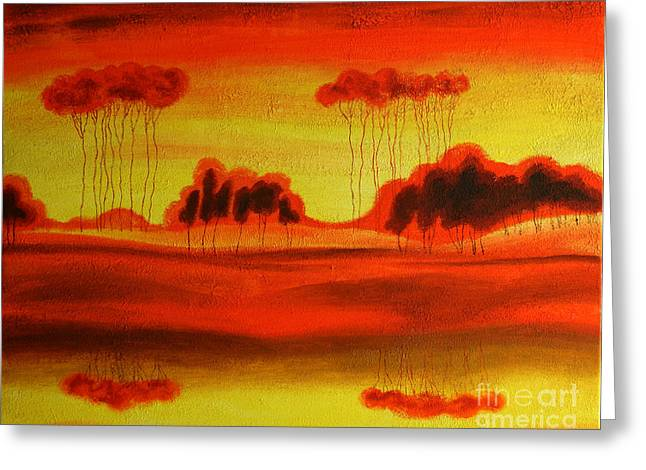Love Image Greeting Cards - Red Planet Greeting Card by Leon Zernitsky