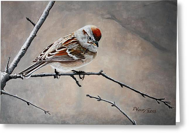 Pam Kaur Greeting Cards - Red Poll Greeting Card by Pam Kaur