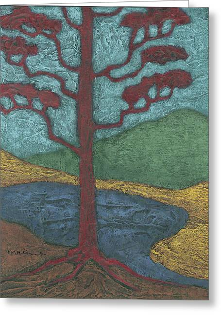 Sand Patterns Greeting Cards - Red Ponderosa Greeting Card by Carrie MaKenna
