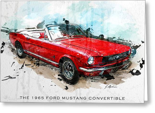 Mustang Art Greeting Cards - The Red Pony 2 Greeting Card by Gary Bodnar