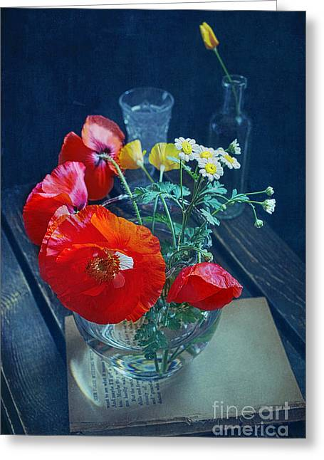 Poppy Decorations Greeting Cards - Red Poppies Greeting Card by Elena Nosyreva