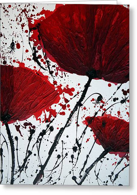 Floral Artist Greeting Cards - Red Poppies Greeting Card by Irina Rumyantseva