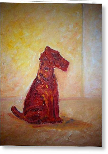 B Russo Greeting Cards - Red Porcelain Greeting Card by B Russo