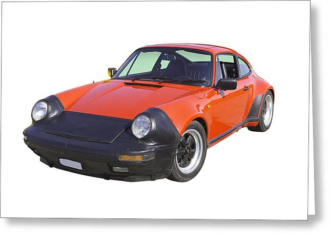 Sporty Greeting Cards - Red Porsche Carrera Sportscar Greeting Card by Keith Webber Jr