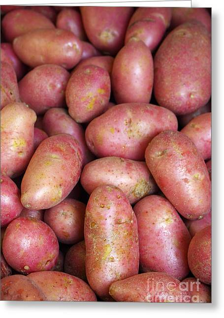 Culinary Greeting Cards - Red Potatoes Greeting Card by Carlos Caetano