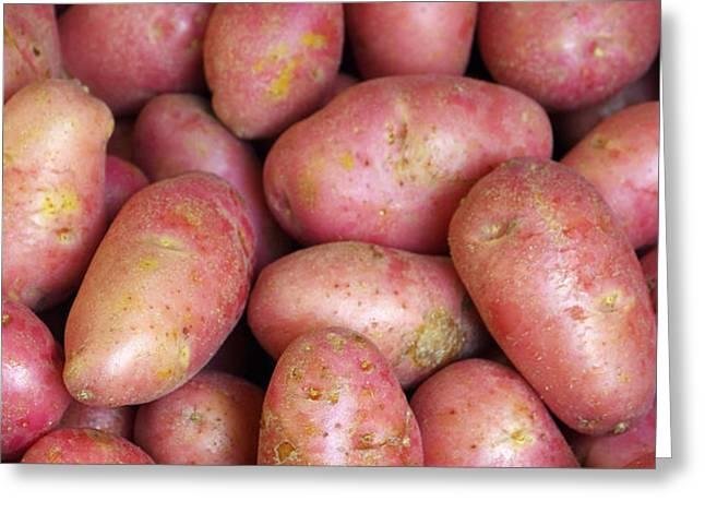 Red Potatoes Greeting Card by Carlos Caetano