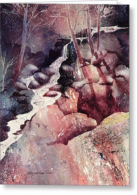 Red Ravine  Greeting Card by John  Svenson