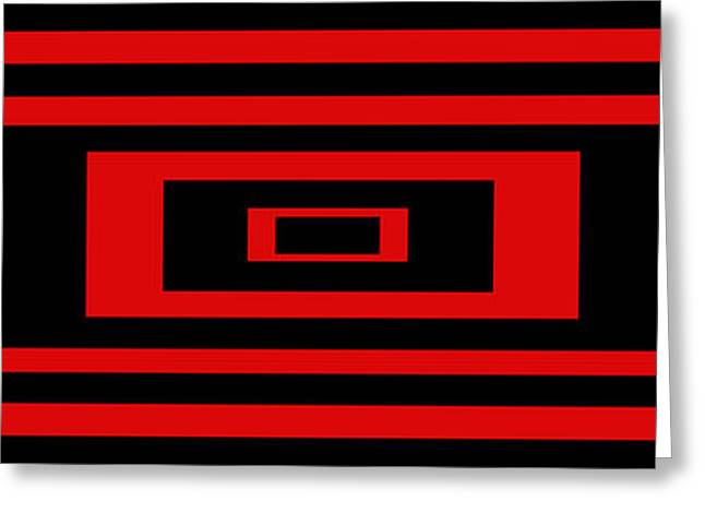 Modern Art Greeting Cards - Red Rectangle Greeting Card by Mike McGlothlen