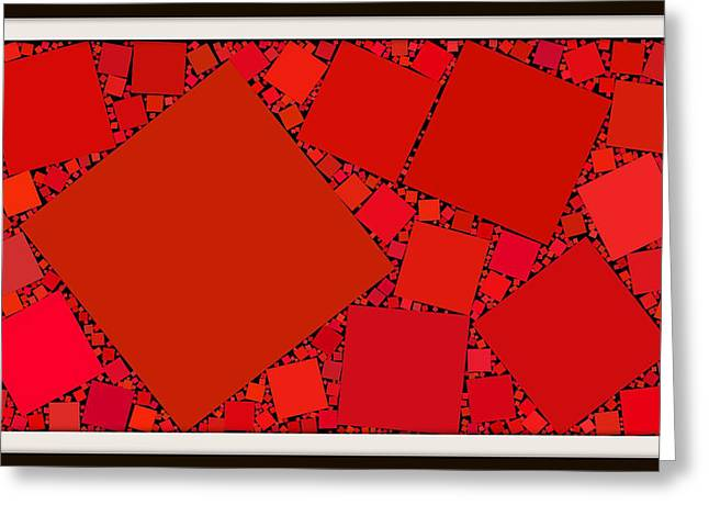 Generators Greeting Cards - Red rectangles I Greeting Card by Kurt Heppke