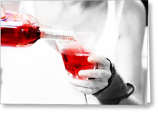 Red Red Wine Greeting Card by Jenny Rainbow