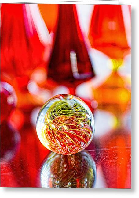 Red Reflections Greeting Card by Jon Woodhams