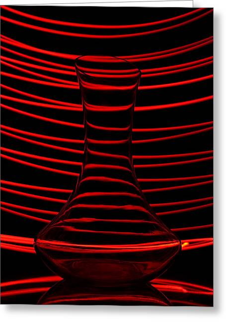 Abstractions Greeting Cards - Red rhythm Greeting Card by Davorin Mance