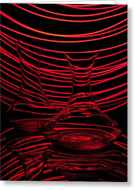 Abstractions Greeting Cards - Red rhythm II Greeting Card by Davorin Mance
