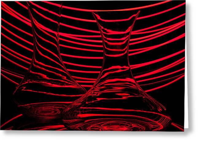 Red rhythm II Greeting Card by Davorin Mance