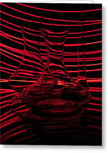 Abstractions Greeting Cards - Red rhythm III Greeting Card by Davorin Mance