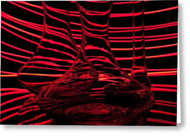 Red rhythm III Greeting Card by Davorin Mance