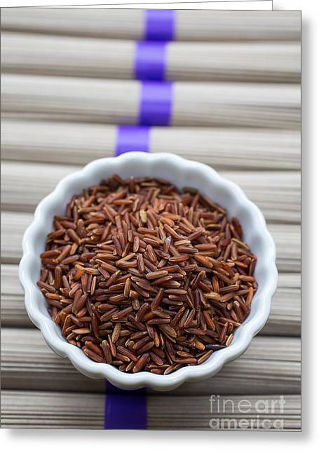 Noodles Greeting Cards - Red Rice Greeting Card by Edward Fielding
