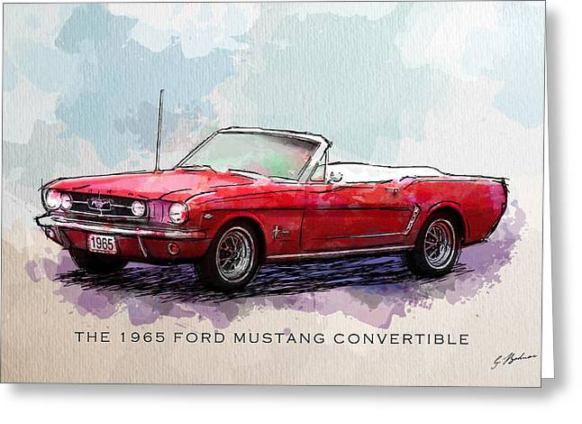 Mustang Art Greeting Cards - Red Riding Hood Greeting Card by Gary Bodnar