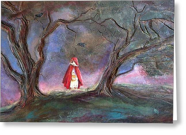 Hand Reliefs Greeting Cards - Red Riding Hood Greeting Card by Paul Nixon