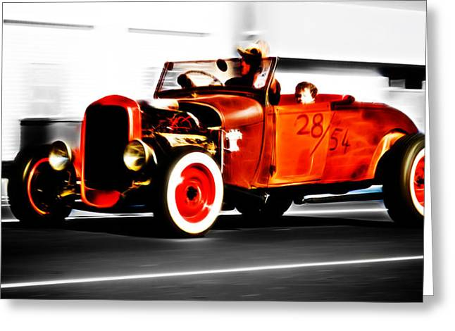 Ford Street Rod Greeting Cards - Red Riding Rod Greeting Card by Phil
