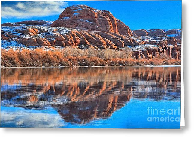 Southern Utah Greeting Cards - Red River Bulge Greeting Card by Adam Jewell