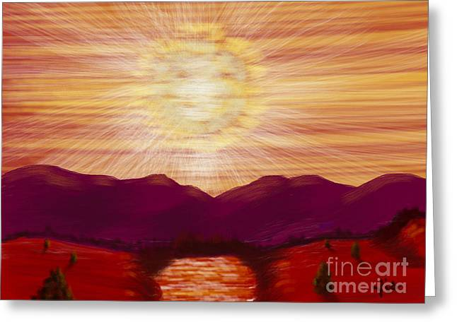 Judy Via-wolff Greeting Cards - Red River Glory Greeting Card by Judy Via-Wolff