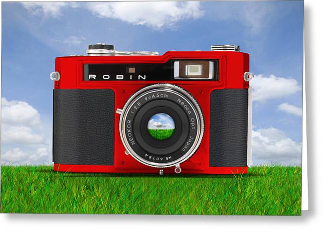 Rangefinder Greeting Cards - Red Robin Greeting Card by Mike McGlothlen