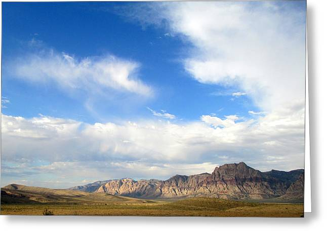 Scenic Drive Greeting Cards - Red Rock Canyon 2014 Number 13 Greeting Card by Randall Weidner