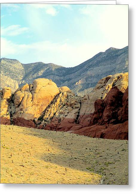 Scenic Drive Greeting Cards - Red Rock Canyon 2014 Number 16 Greeting Card by Randall Weidner