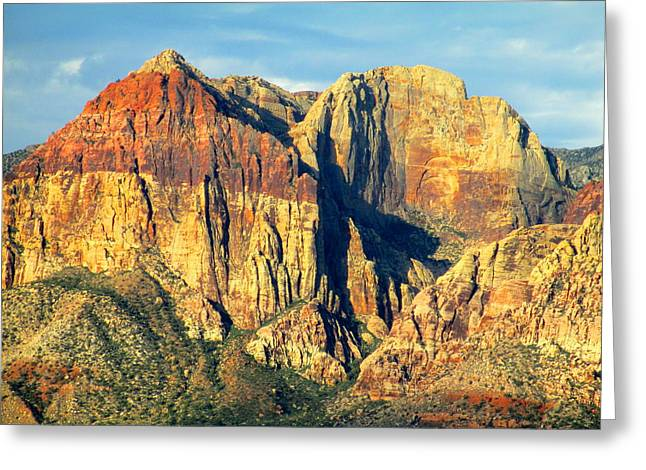 Scenic Drive Greeting Cards - Red Rock Canyon 2014 Number 18 Greeting Card by Randall Weidner