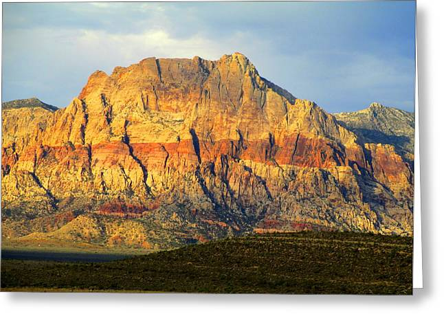Scenic Drive Greeting Cards - Red Rock Canyon 2014 Number 2 Greeting Card by Randall Weidner