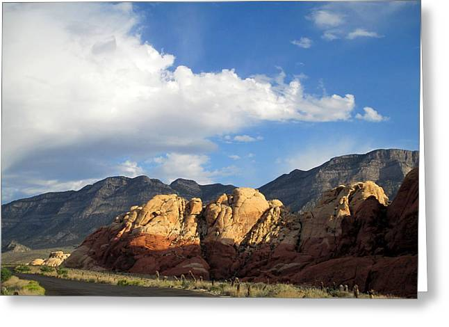 Scenic Drive Greeting Cards - Red Rock Canyon 2014 Number 20 Greeting Card by Randall Weidner