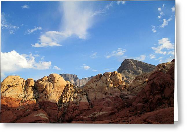 Scenic Drive Greeting Cards - Red Rock Canyon 2014 Number 21 Greeting Card by Randall Weidner