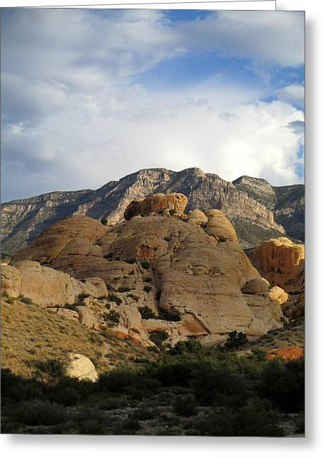 Scenic Drive Greeting Cards - Red Rock Canyon 2014 Number 24 Greeting Card by Randall Weidner