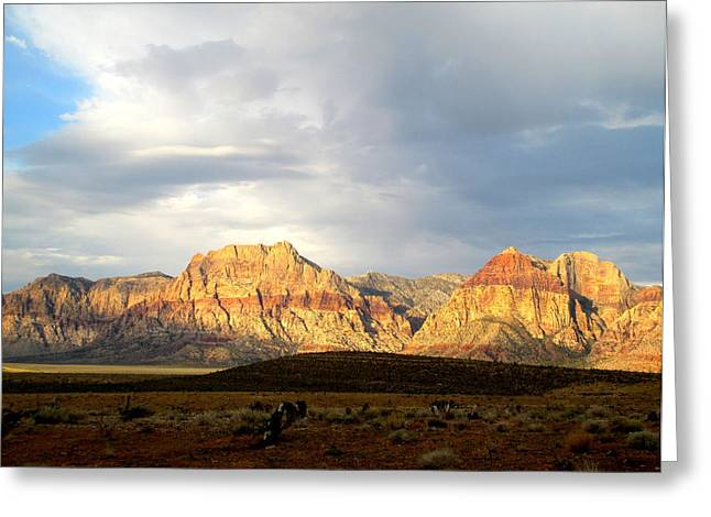 Scenic Drive Greeting Cards - Red Rock Canyon 2014 Number 4 Greeting Card by Randall Weidner