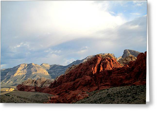 Scenic Drive Greeting Cards - Red Rock Canyon 2014 Number 8 Greeting Card by Randall Weidner